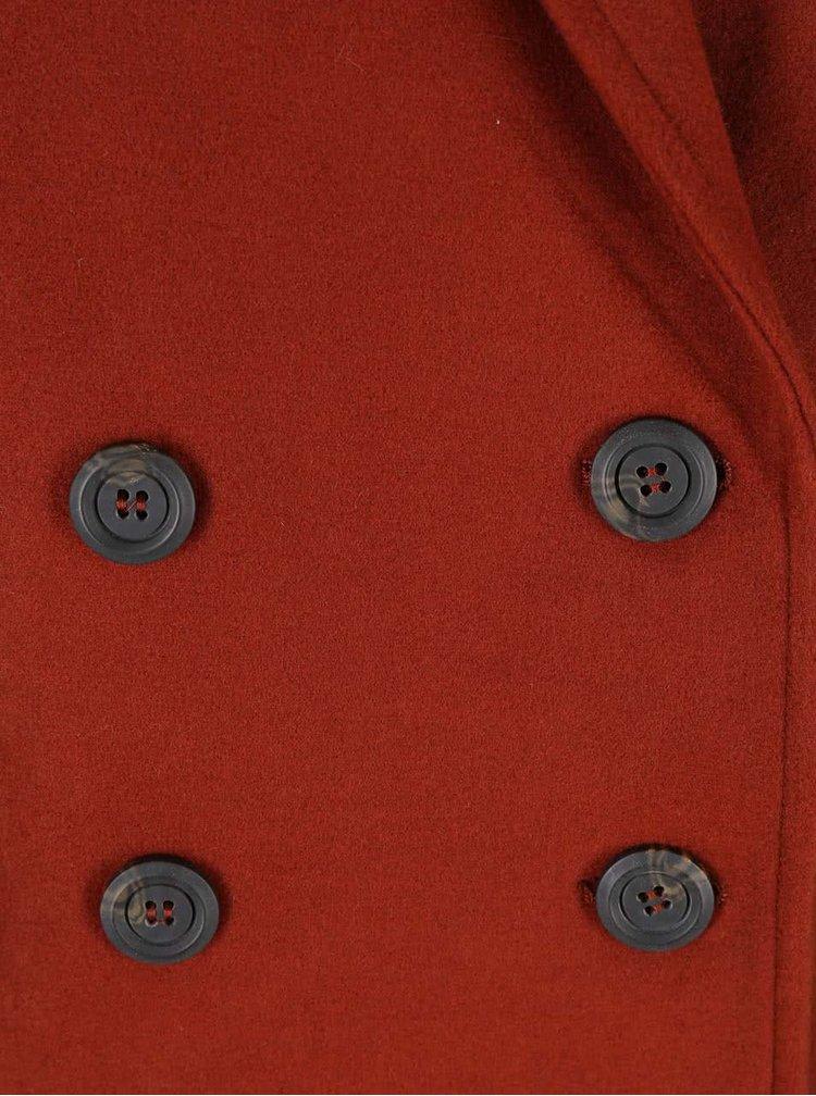 Tehlová kabátová vesta New Look