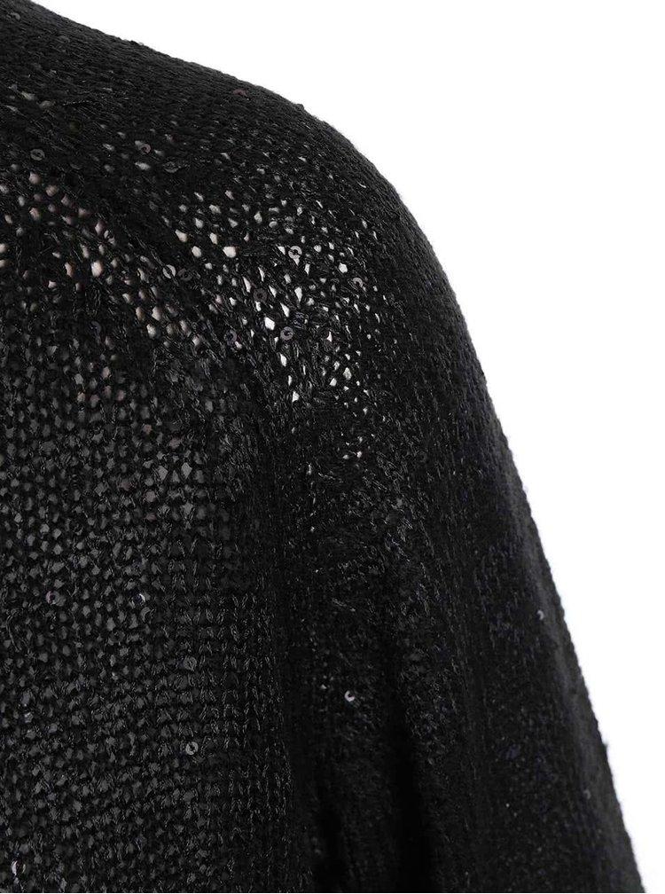 Pulover Adelyn negru cu croială lejeră și paiete de la ONLY