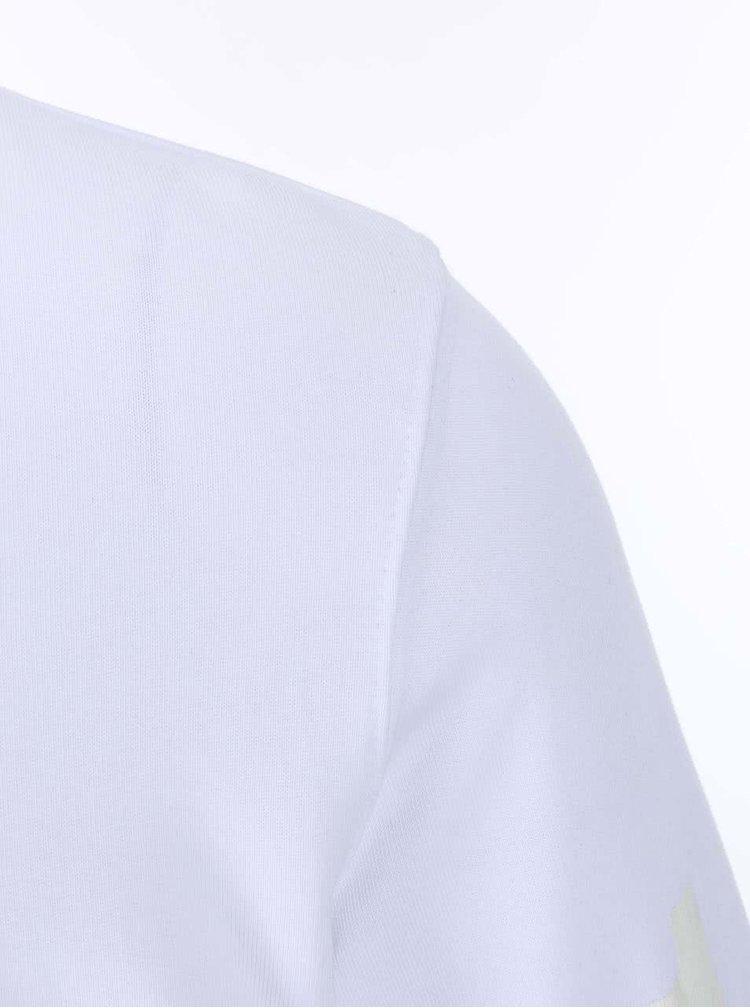 Bílá mikina s potiskem na rukávech Jack & Jones Force