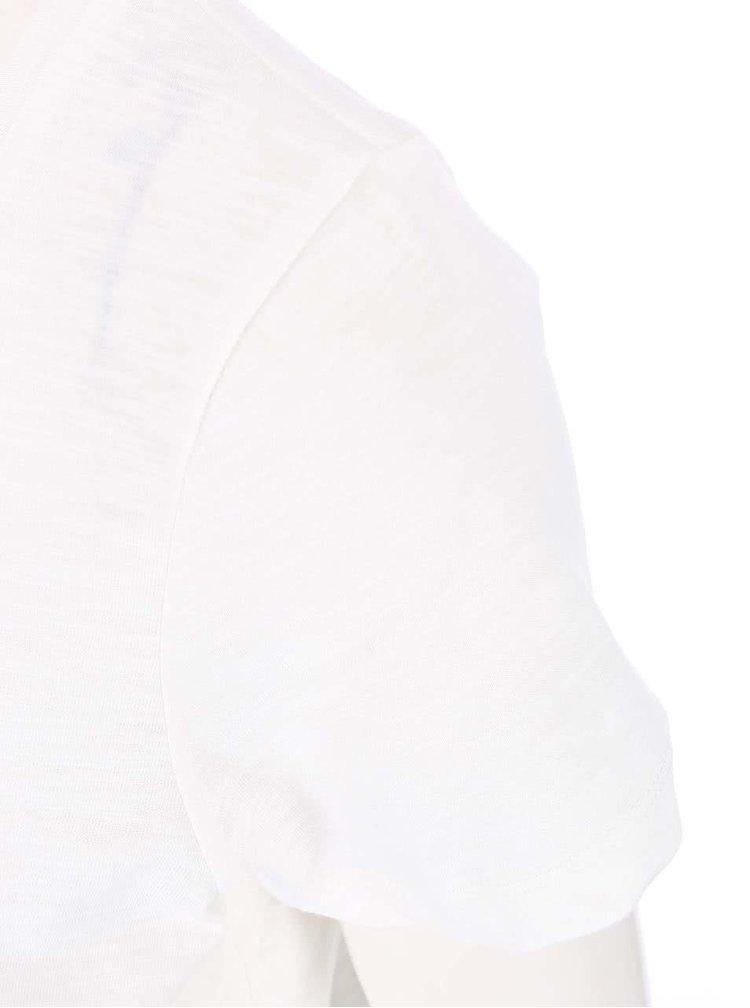 VERO MODA Hope White T-Shirt with Lace Trim