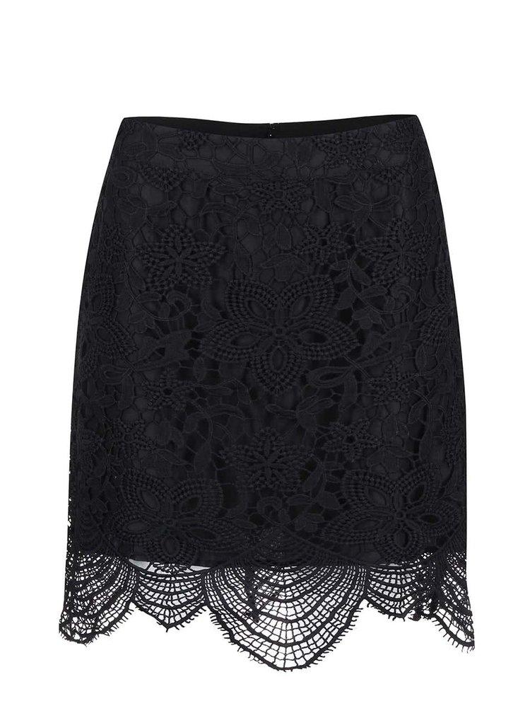Černá krajková sukně VERO MODA Mimi