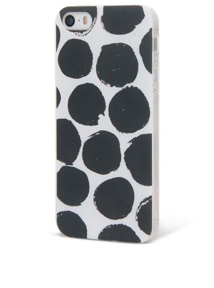 Čierno-biely ochranný kryt na iPhone 5/5S Epico Dotsie