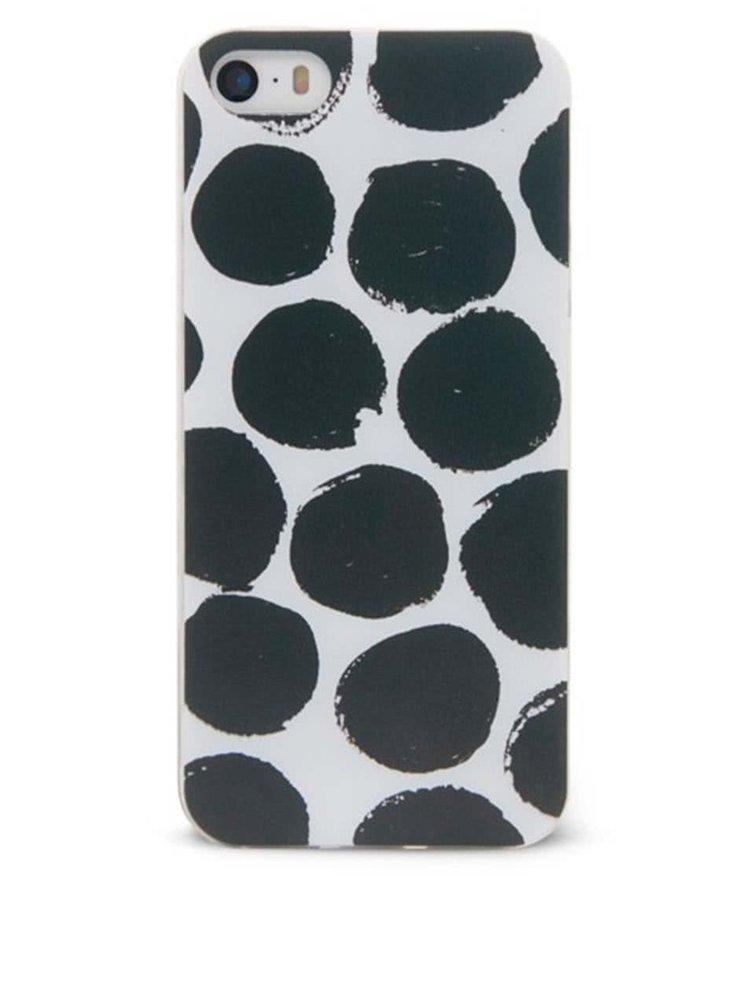 Husă alb-negru Epico Dotsie iPhone 5/5S
