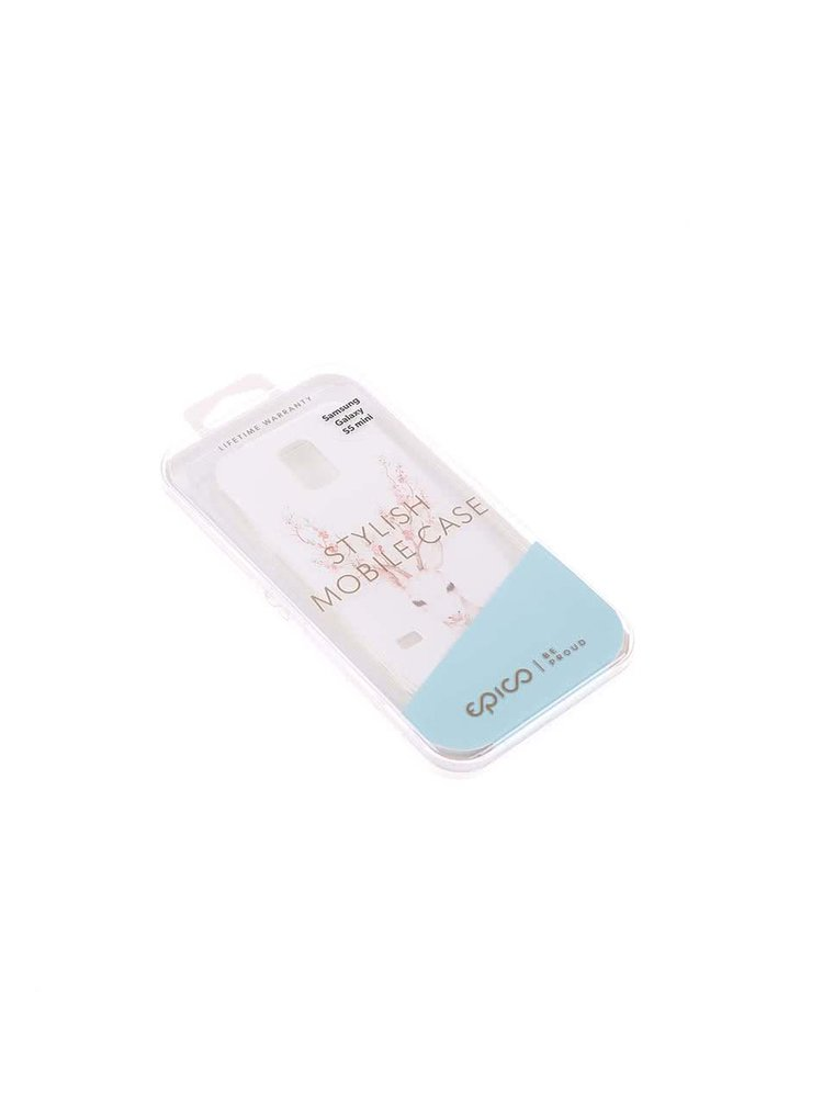 Husa Epico Deer de culoare alba, din plastic flexibil, pentru Samsung Galaxy S5 mini