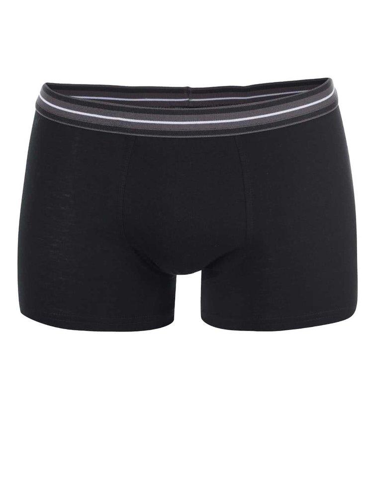 Súprava troch čiernych a sivých boxeriek Marginal