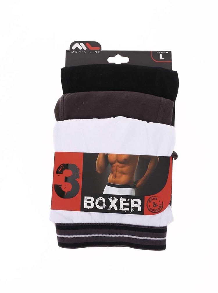Set de trei boxeri negru, gri și alb de la Marginal
