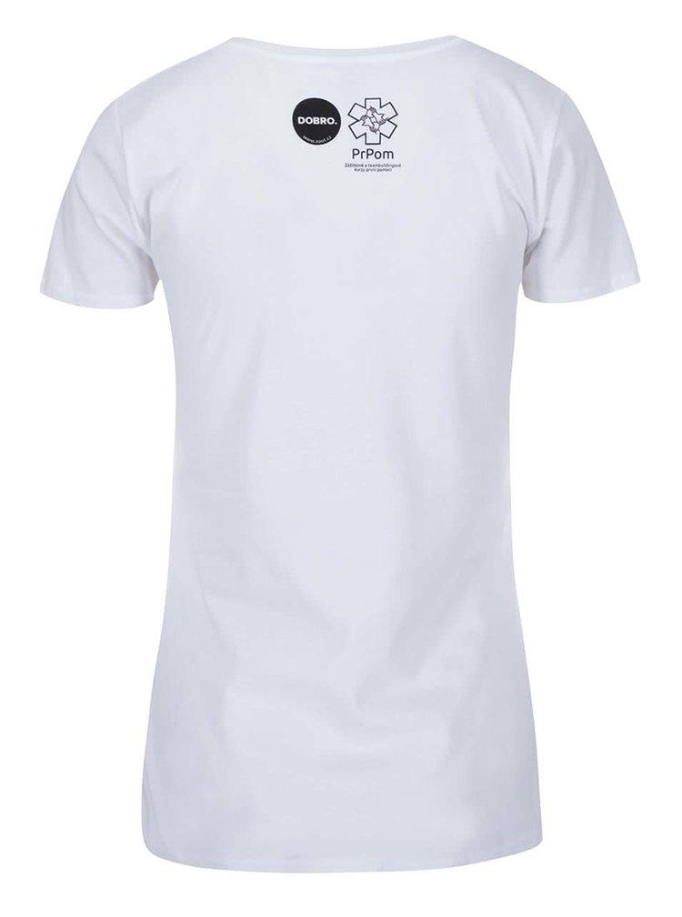 """""""Dobré"""" biele dámske tričko pre PrPom"""