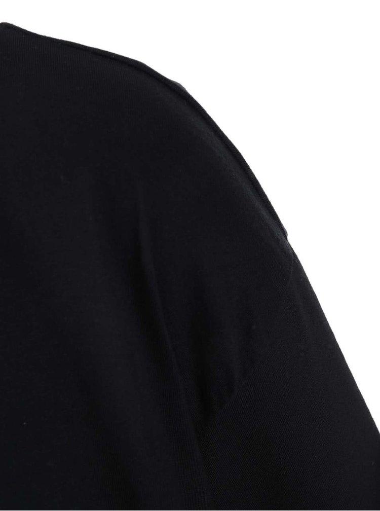 """""""Dobré"""" černé dámské oversize tričko Metráž"""