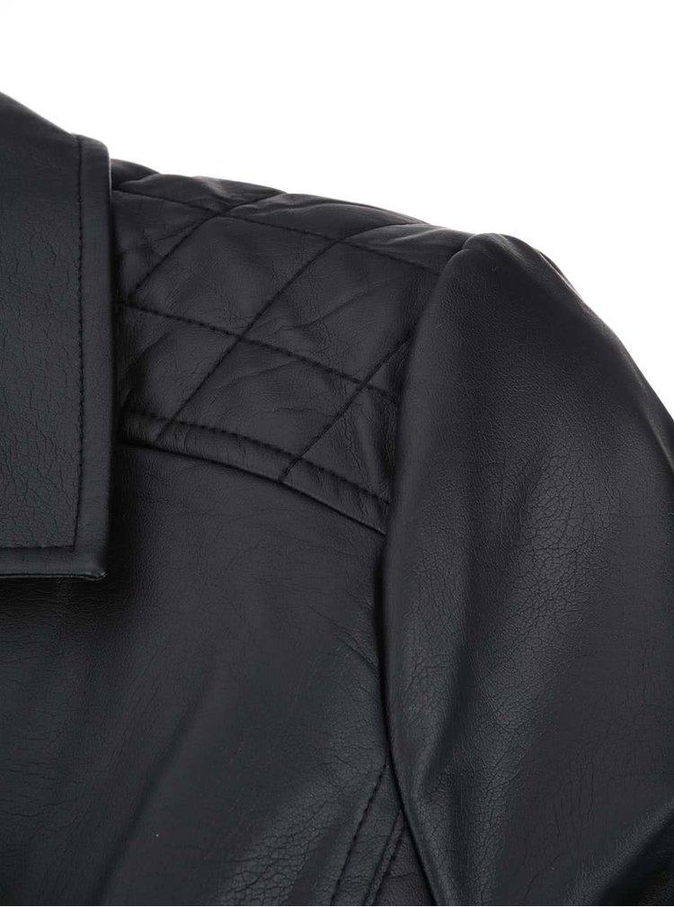 Jacheta neagra Dorothy Perkins Curve din piele sintetica