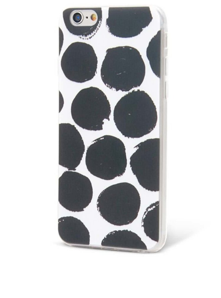 Husă alb cu negru Epico Dotsie pentru iPhone 6/6s