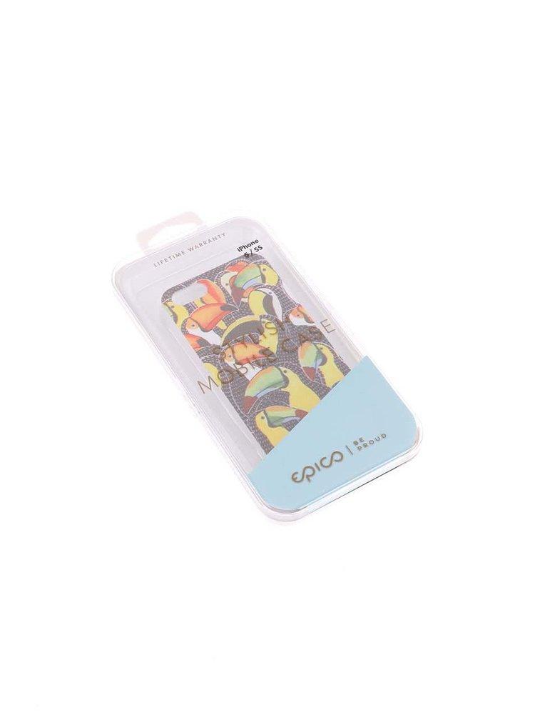 Farebný kryt na iPhone 5/5s s tukanmi Epico Tucans