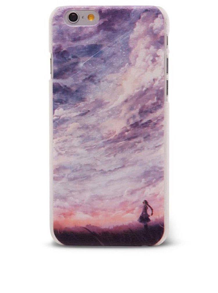 Fialový ochranný kryt na iPhone 6/6s s oblohou Epico Fine Art