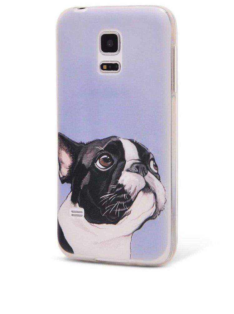 Světle modrý ochranný kryt na Samsung Galaxy S5 mini Epico Doggie