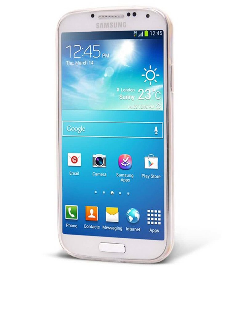 Bílý ochranný kryt na Samsung Galaxy S4 mini Epico Deer