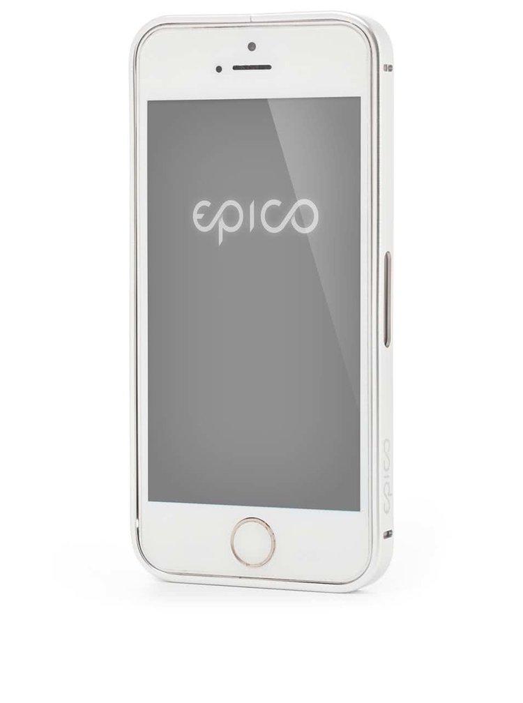 Hliníkový rámeček na iPhone 5/5s v stříbrné barvě Epico Hero Hug