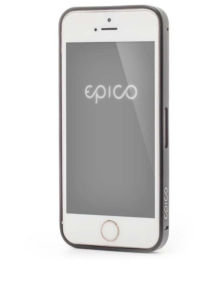 Bumper Epico Hero Hug negru din aluminiu pentru iPhone 5/5s