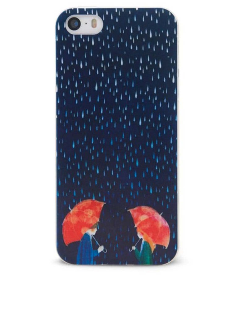 Modrý ochranný kryt na iPhone 5/5s Epico In The Rain