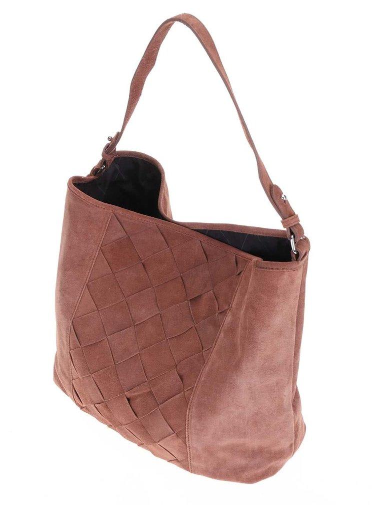 Pieces Jessie Brown Leather Handbag