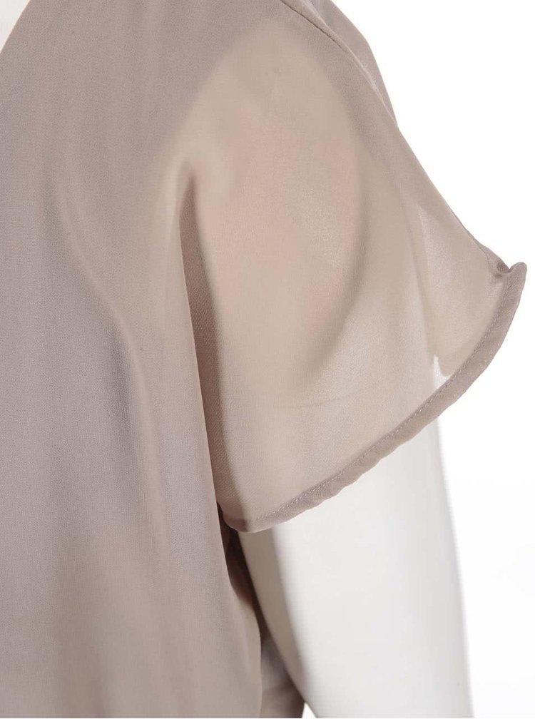 Šaty v tělové barvě s krajkovanými detaily VILA Licka