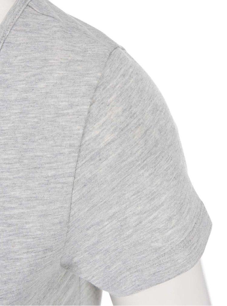 Svetlosivé tričko s okrúhlym výstrihom VERO MODA Maxi My