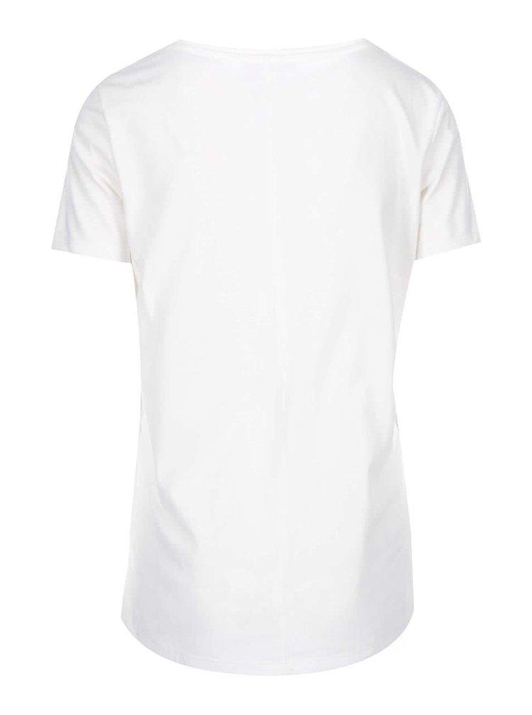 Krémové tričko s potiskem s.Oliver