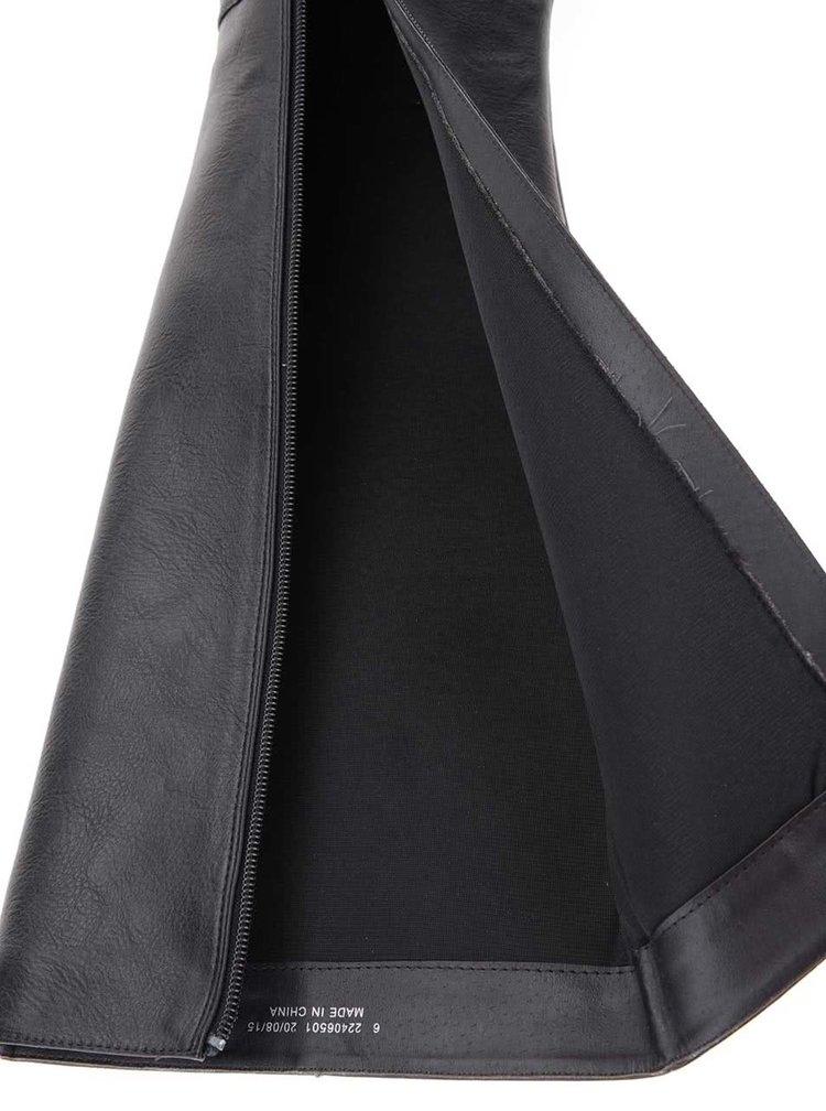 Černé vysoké kozačky na podpatku Dorothy Perkins