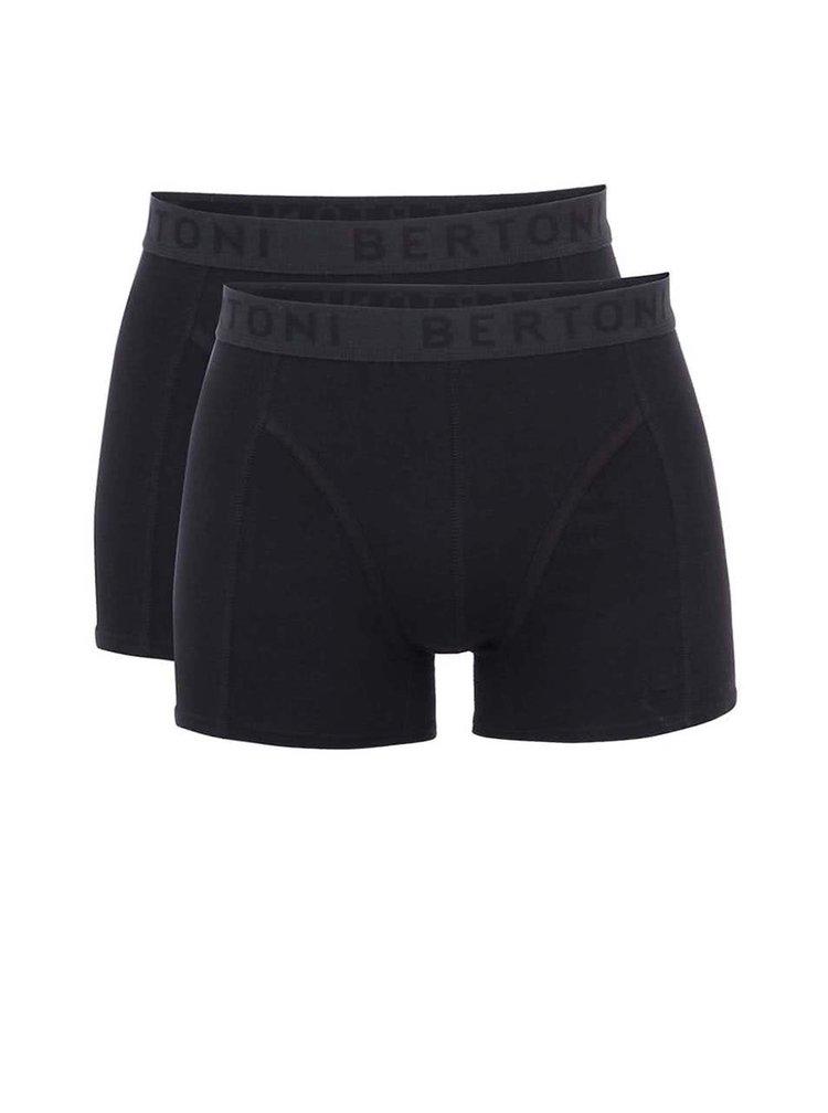Sada dvou černých boxerek Bertoni Birk