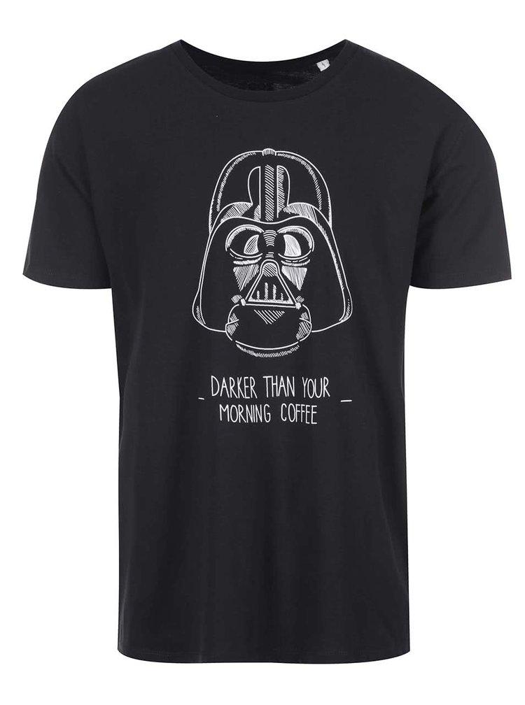 Čierne pánske tričko s potlačou ZOOT Originál Darker Coffee