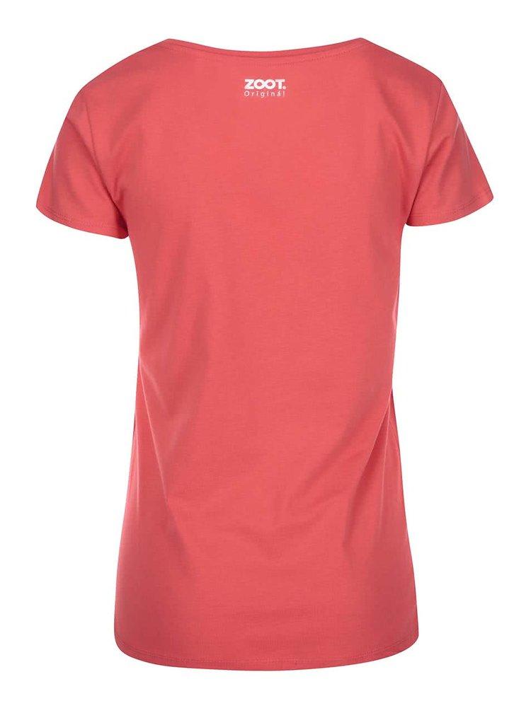Červené dámské tričko s potiskem ZOOT Originál Amelie