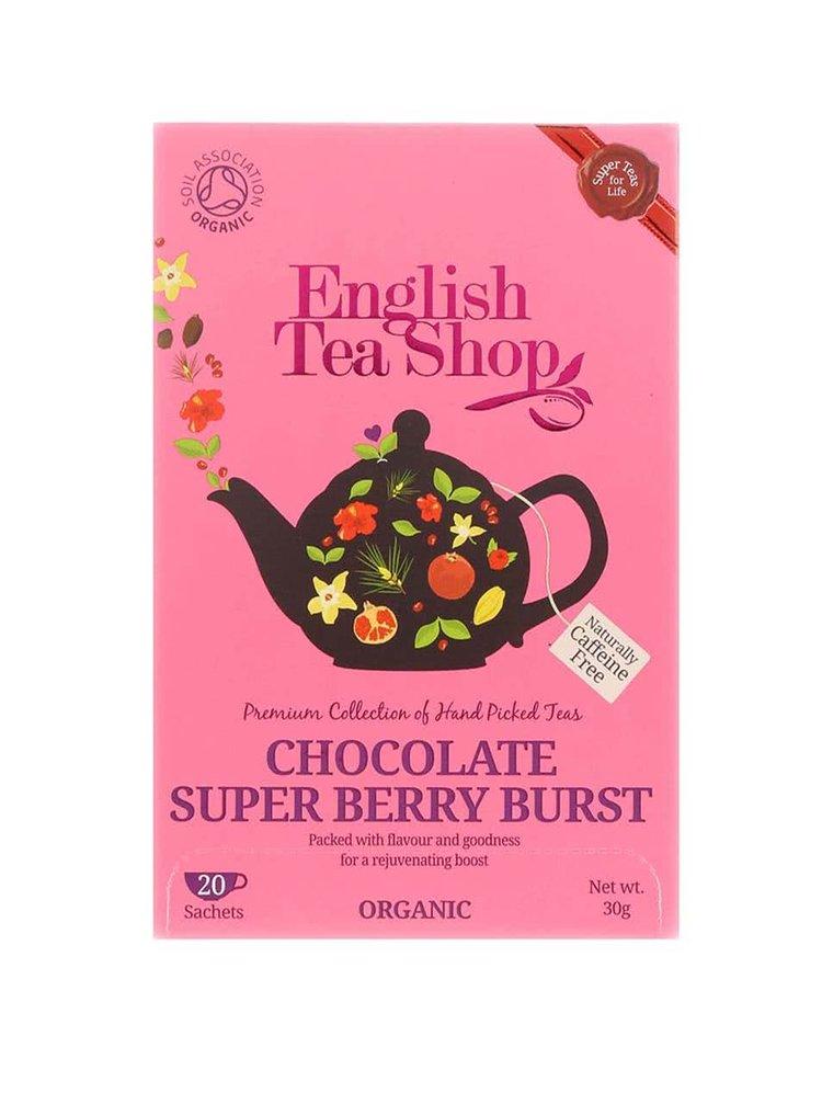 Ovocný čaj English Tea Shop Čokoláda a Super Ovocie Bio
