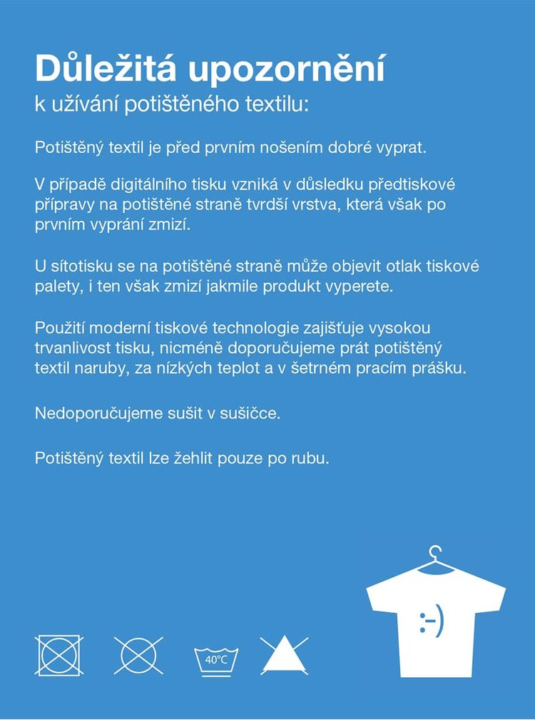 """""""Dobré"""" biele pánske tričko s potlačou pre OPU a UNHCR"""