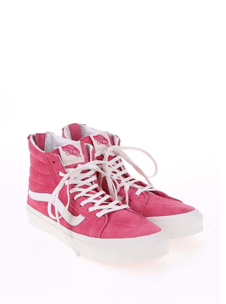 Pantofi sport de dama Vans SK8-HI, pana la glezna, roz