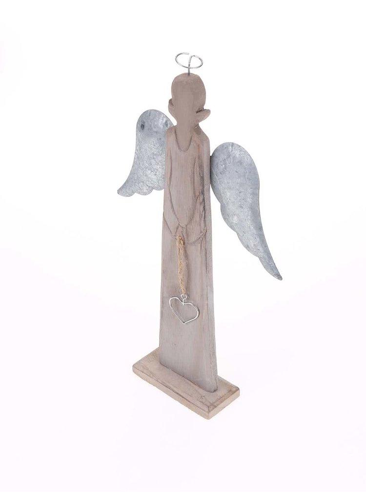 Dřevěný dekorativní anděl Dakls