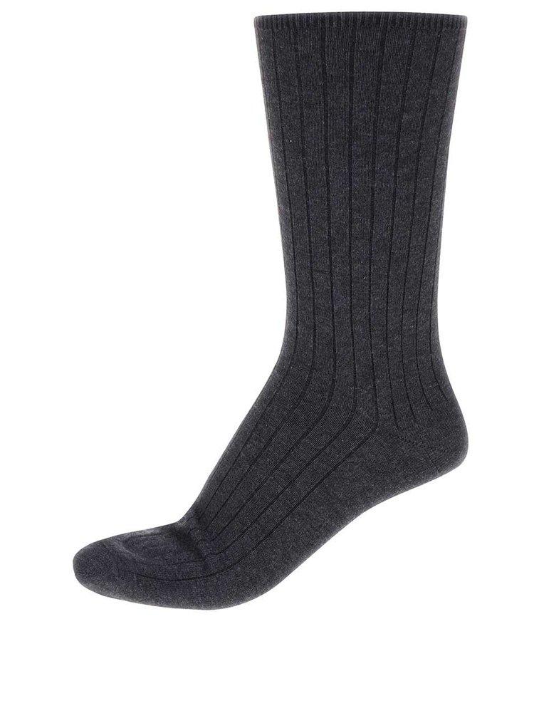 Tmavosivé bavlnené ponožky Claudio