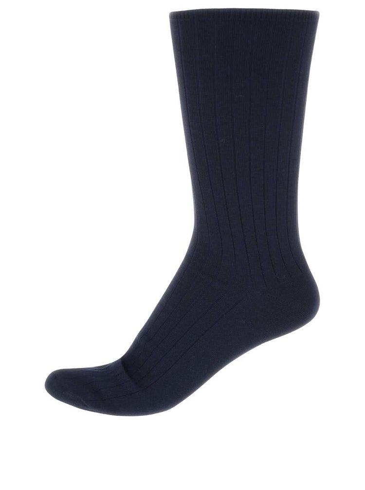 Tmavomodré bavlnené ponožky Claudio