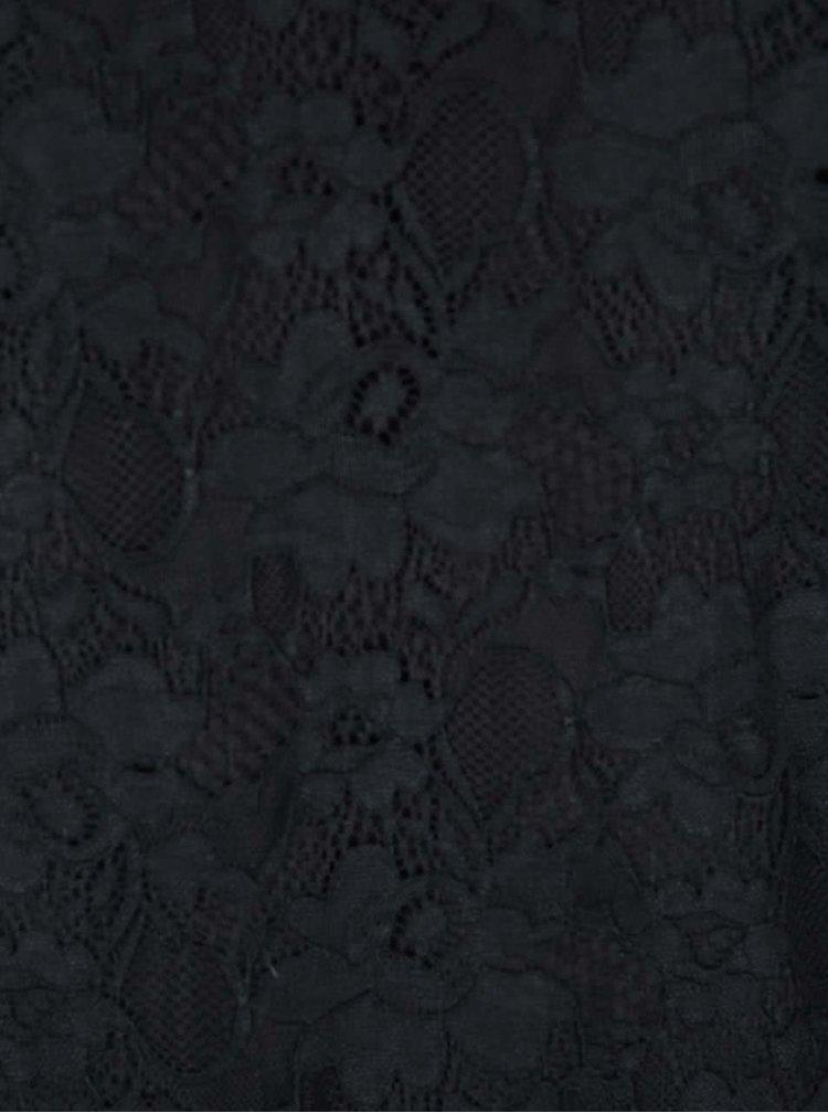 Černé krajkované šaty VILA Drake