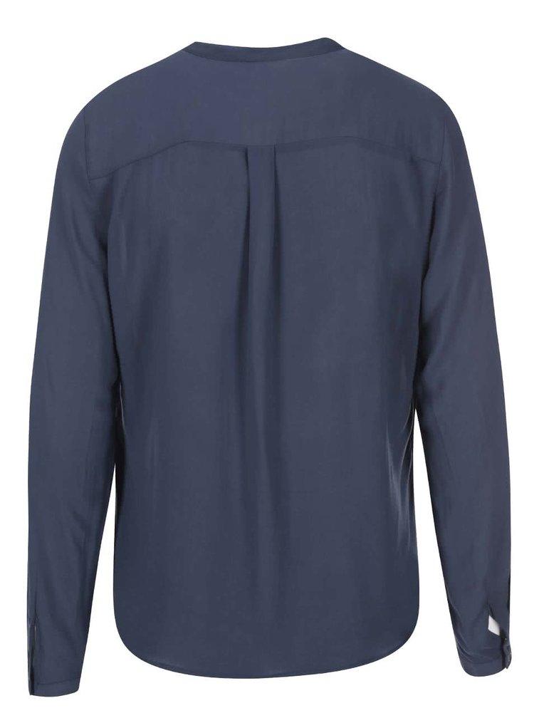Bluză bleumarin cu nasturi ONLY Tia
