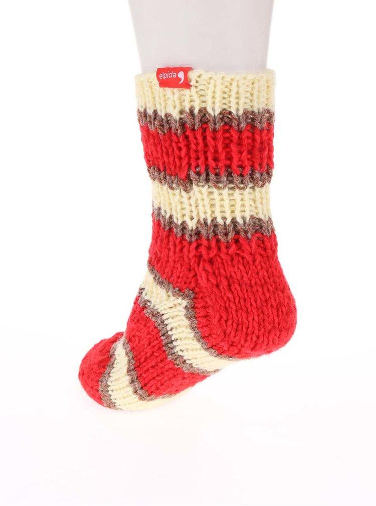 """""""Dobré"""" pruhované pletené ponožky od babičky Elpida"""