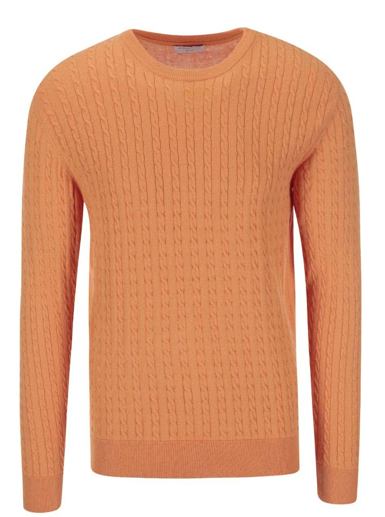 Oranžový svetr Selected Clay