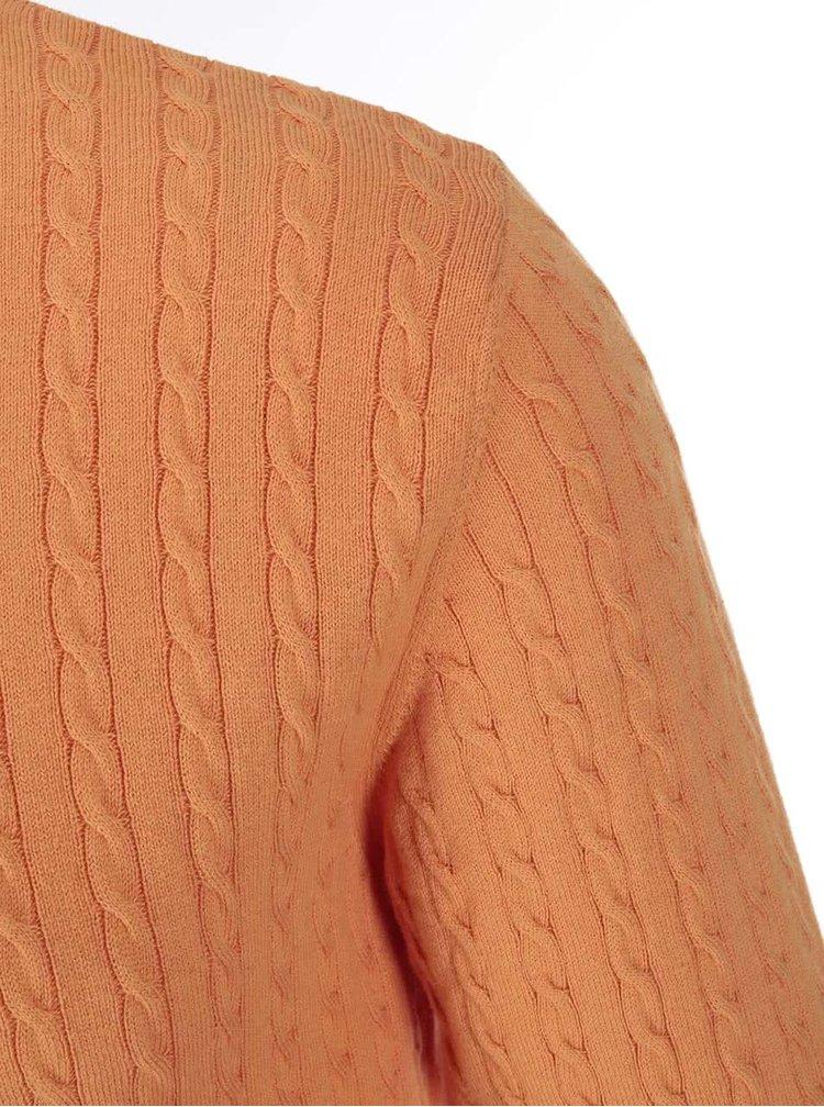 Pulover subțire Selected Clay - portocaliu