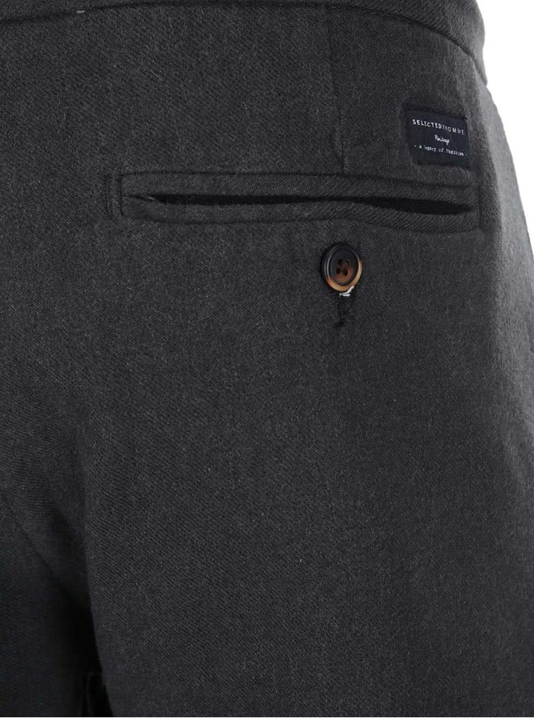 Pantaloni gri inchis Selected Homme Beck