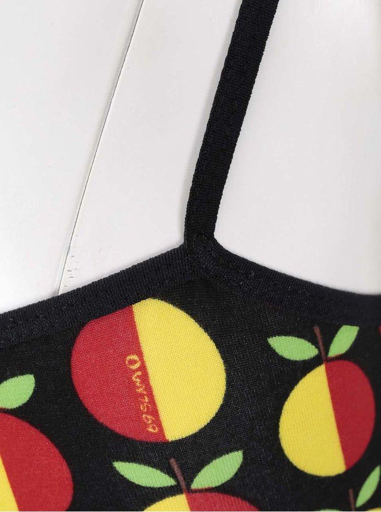Černý dámský nátělník s jablky 69SLAM Singlet top
