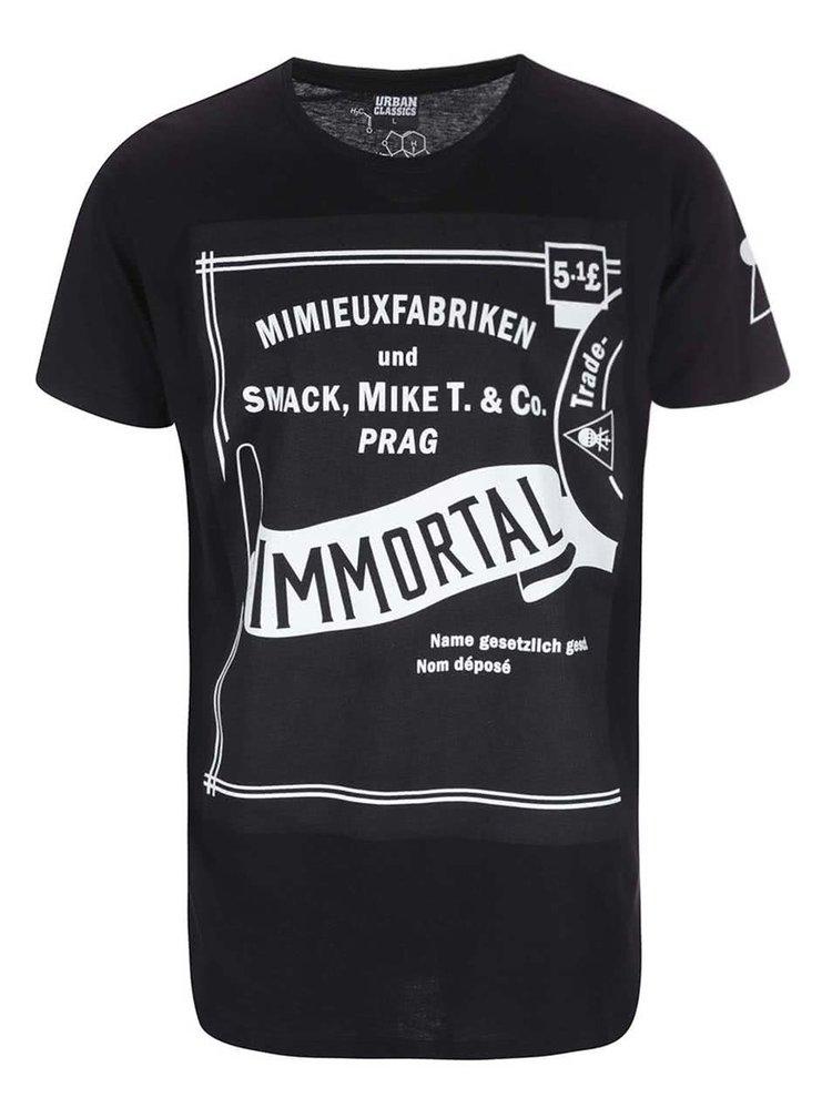 Čierne pánske tričko Smack Immortal by Anna Mimieux