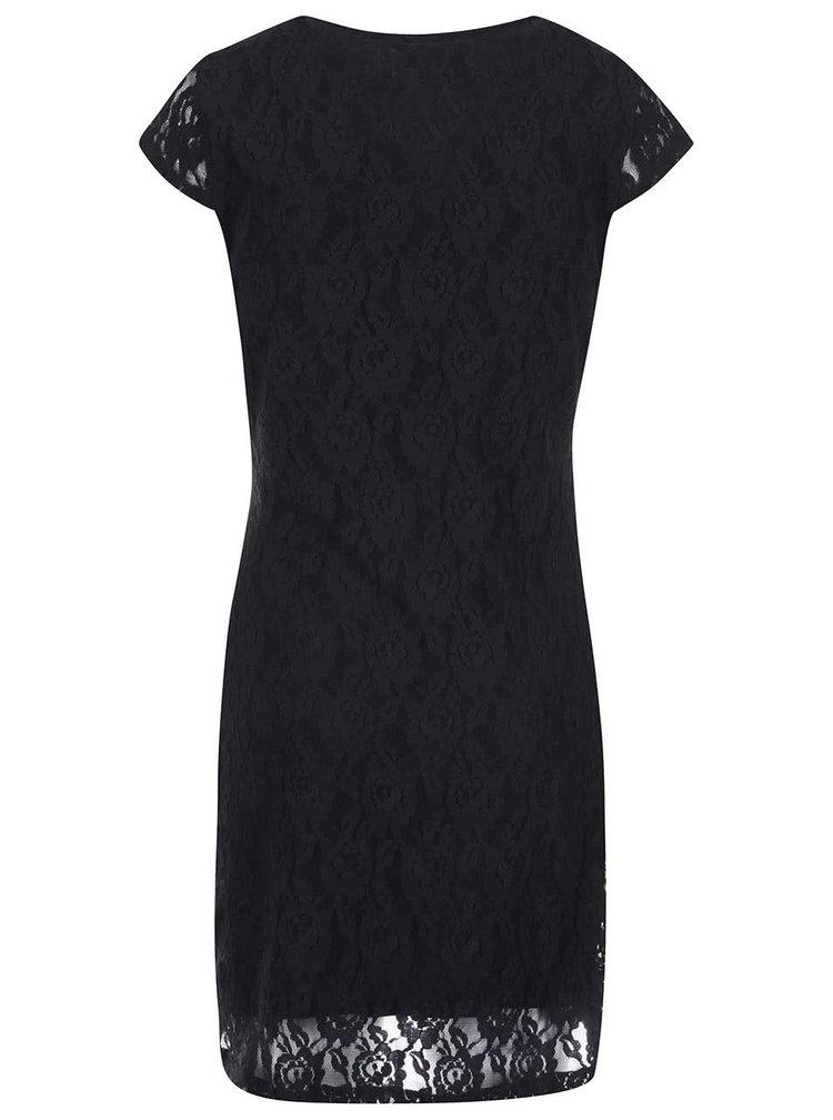 Černé krajkové šaty VERO MODA Lilly