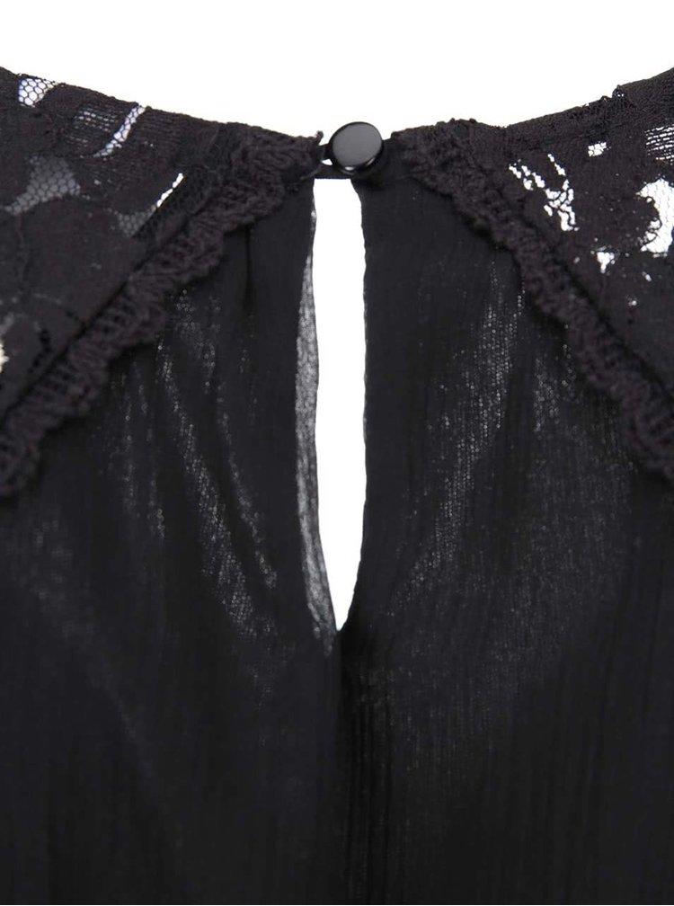 Rochie neagră din dantelă VERO MODA Freja