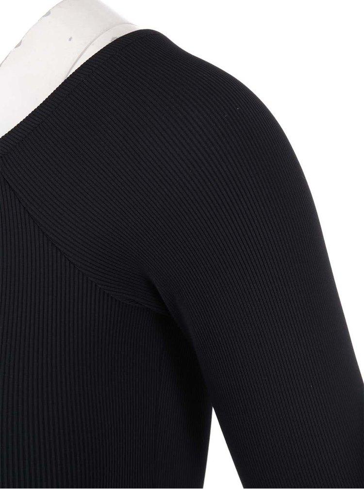 Body negru cu mâneci lungi Y.A.S Colli