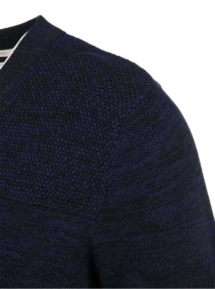 Černo-modrý žíhaný svetr Selected Homme Bob