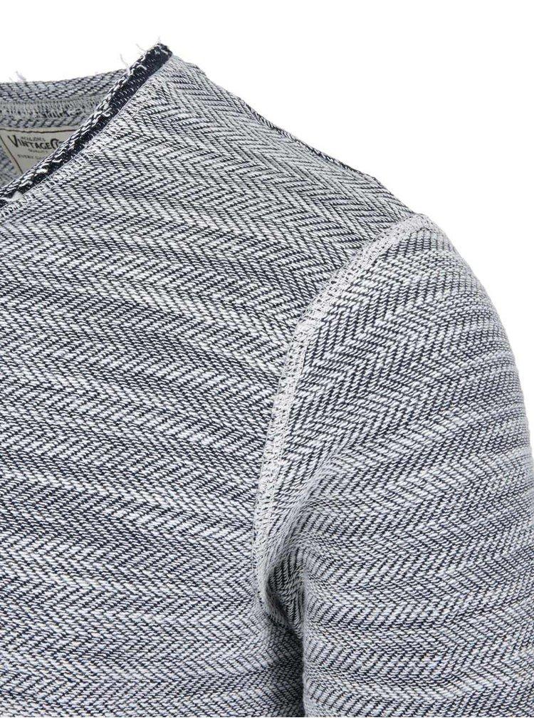 Sivý žíhaný sveter Jack & Jones Carl