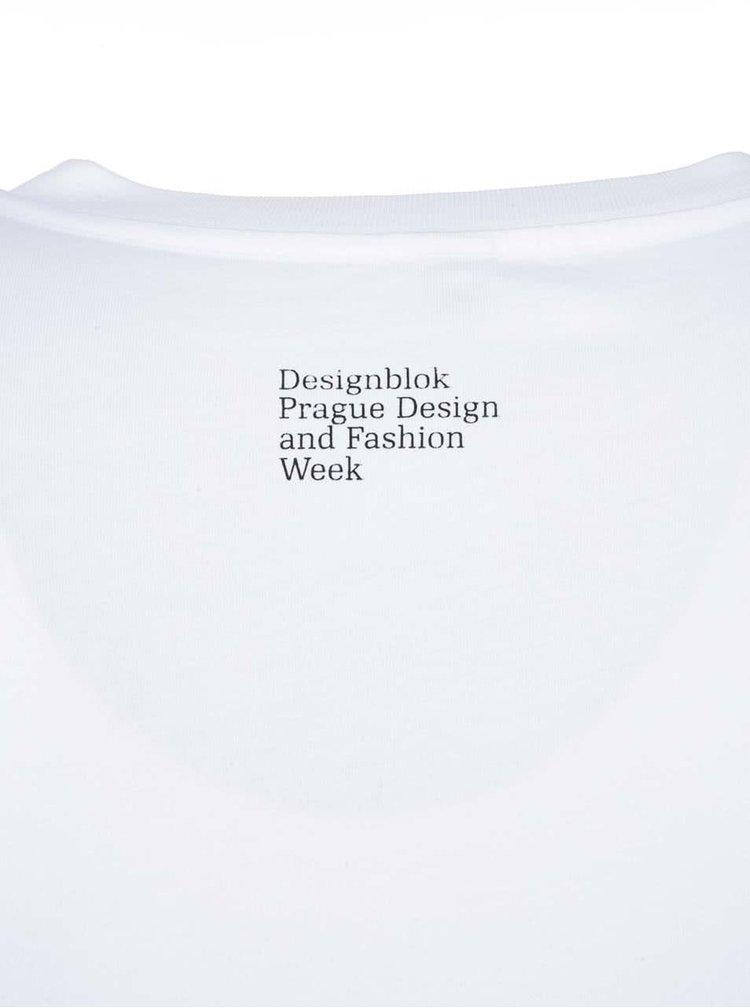 Biele pánske tričko s koňom Designblok