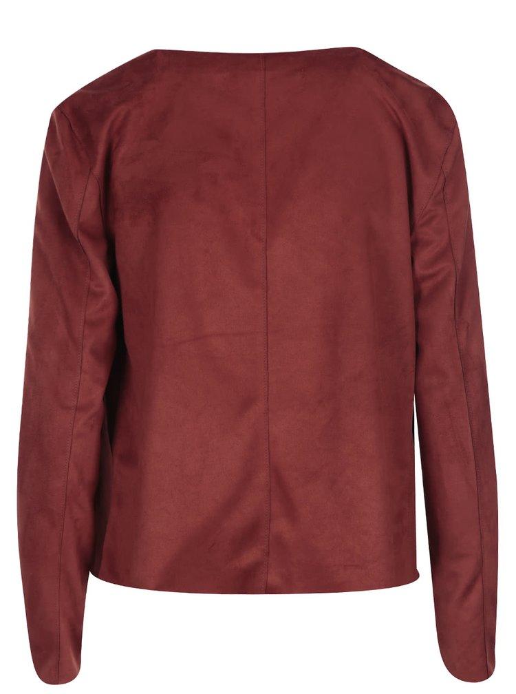 Jacheta cărămizie din imitație de piele întoarsă Noisy May House